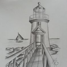 Ideas For Boats Drawing Ocean Nautical Drawing, Nautical Painting, Boat Painting, Painting & Drawing, Sailboat Drawing, Pencil Art Drawings, Art Drawings Sketches, Easy Drawings, Ocean Drawing
