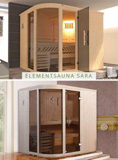 WEKA Elementsauna SARA: Die Innen-Sauna für die Entspannungs-Oase im eigenen Zuhause! Ob im Keller oder Badezimmer, diese Sauna passt perfekt in jede Ecke. Wer würde hier nicht gerne nach einem langen Arbeitstag entspannen?