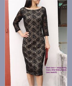 LACE beauty pencil dress custom made