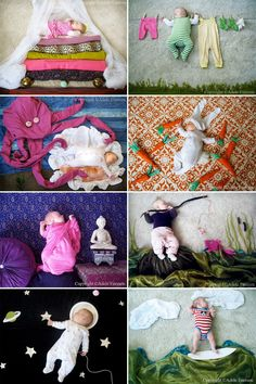 "Photographs © Adele Enersen. I received an email the other day titled, ""The Most Creative Thing I've Seen Today!"" And that is exactly what I got. Adele Enersen is a new mother who gets really creative with things laying around the house during her daughter's nap time. The result are these wonderful, whimsical photographs. You …"
