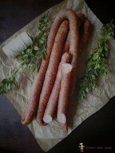 Kiełbasa chłopska, wędzona podpiekana ~ Kocham.. Lubię.. Gotuję.. Kielbasa, Halibut, Sausage, Meat, Sausages, Chinese Sausage