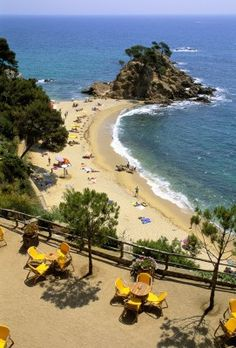 Costa Brava, Platja D'aro, Beach View  Catalonia, Spain