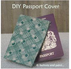 ... and a DIY Passport Cover - buttons and paint...