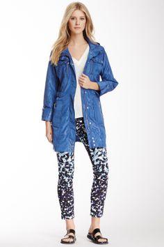 Via Spiga Hooded Cargo Jacket / Color: Blue ♥