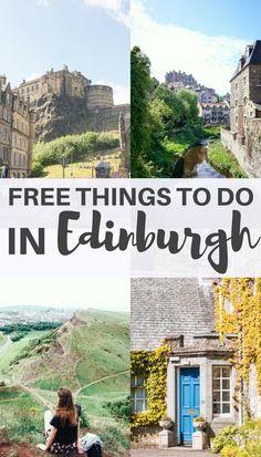 Free things to do in Edinburgh, Scotland