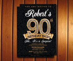 This item is unavailable 90th Birthday Invitations, 90th Birthday Parties, Adult Birthday Party, Party Invitations, You Are Invited, Printable Invitations, Printing Services, Rsvp, Etsy
