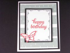 Tin of Cards alternate design - Happy Birthday Butterfly card - Anne Granger