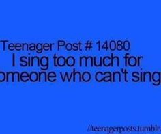 so true, i always think no one can hear me but actually everybody hears me
