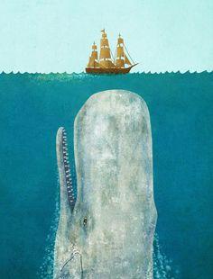 The Whale - giclee art print by Terry Fan via society6.com