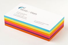 webb_de_vlam_letterpress_business_cards_edge_painted_stack_750