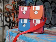 recycled Floppy Disk Bags by Roxanne Gibson 2