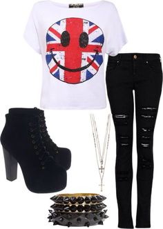 Rock On!! Outfit!! Love it!!