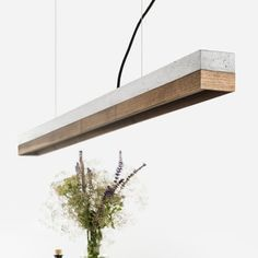The NEW Lamp wood and concrete on Otoko.fr #Brass #gantlights #wood #laiton #bois #led #art #pendantlight #lamp #lampe #wood #contrast #architecture #minimalism #minimal #design #interior #house #designer #interiordesign #light #lights #luminaire #creation #contemporain #designer #industriel #industrial #industrialdesign