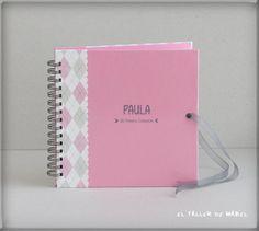 Libro de firmas para la Primera Comunión de Paula Notebook, Signature Book, First Holy Communion, Atelier, The Notebook, Exercise Book, Scrapbooking