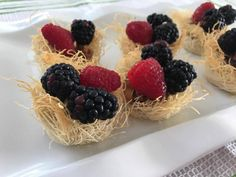 Fruit and Berry Baskets baked With Shredded Pastry Dough are a great easy dessert for celebrations year round #RecipeIdeas