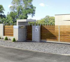 House Fence Design, Modern Fence Design, Door Gate Design, Unique House Design, Entrance Design, Modern Exterior Doors, Modern Entrance, House Entrance, Modern Front Yard