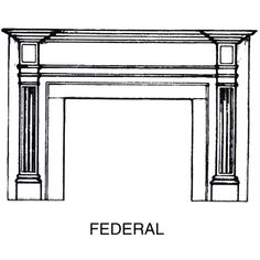 Styles of Fireplaces: Federal