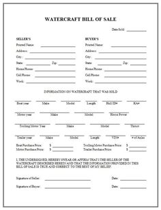 Free Printable Bill Sale Form | ... sale - http://www.rc123.com ...