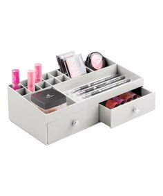 Loving this Gray Multi-Compartment Two-Drawer Cosmetic Organizer on #zulily! #zulilyfinds
