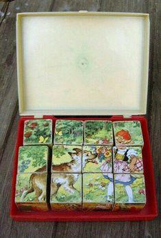 "Vintage Wooden Toys - Dice Puzzle ""Fairy Tale"" wood vintage - a design . 1970s Childhood, My Childhood Memories, Childhood Toys, Sweet Memories, Good Old Times, The Good Old Days, Retro Toys, Vintage Toys, 90s Kids"