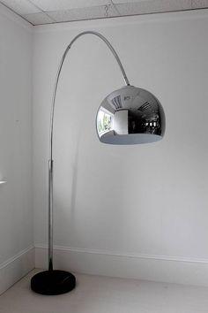 Zelda Large Chrome Arch Floor Lamp