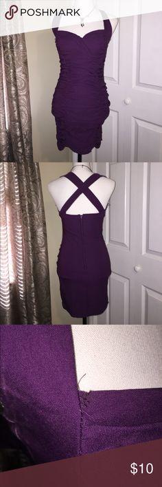 Sabora purple dress Sexy Sabora purple rouched dancing dress - small thread unraveling. sabora Dresses