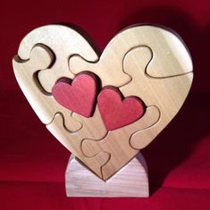 Items similar to Custom Dated - Two Hearts Beating as One Puzzle on Etsy Wood Projects, Woodworking Projects, Projects To Try, Wood Crafts, Diy And Crafts, Scroll Saw Patterns Free, Cross Patterns, Two Hearts, Wooden Puzzles