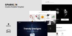  Sparklin - Creative One Page Portfolio WordPress Theme