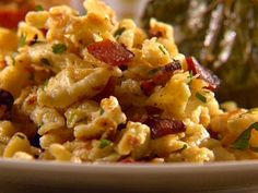 German Dumplings (Spaetzle) - this particular recipe is unusual in that it uses bacon - not typical for spaetzle...