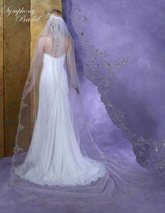 Bella Mera Bridal Boutique - Symphony Bridal Veil - Style 6132VL -Cathedral Embellished Veil,  (http://www.bellamerabridal.com/symphony-bridal-veil-style-6132vl-cathedral-embellished-veil/)