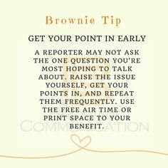 Preparing for a media interview? Get your point in early and remember those key messages!