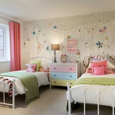 Decorating a child's bedroom is the perfect excuse to use your imagination and get creative! For artistic youngsters, you can even buy wallpaper that they can colour in themselves as seen here in the 'Dunton' showhome at our Mayberry Place development in Alyesbury.