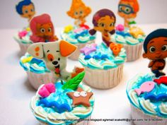 Bubble Guppies I wish I could do this. Bubble Guppies Cupcakes, Bubble Guppies Birthday Cake, Bubble Guppies Party, Second Birthday Ideas, 2nd Birthday Parties, 4th Birthday, Birthday Cakes, Birthday Cake Singapore, Maya