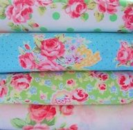 Bright shabby chic material for tablecloths