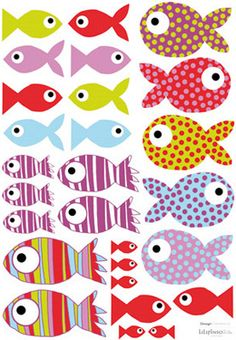 Lot stickers Poissons (29 stickers) - Lilipinso and Co