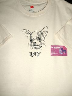 Personalized SMOOTH CHIHUAHUA Embroidered Dog by OneDogFashions