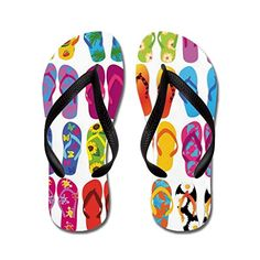 458e2e28e6388 Poppylife Summer Fun Print Rubber Beach Flip Flops Adults S Pink    For  more information
