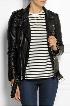 BLK DNM|8 leather biker jacket|NET-A-PORTER.COM