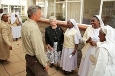 Steven M. Hilton, Chairman, President & CEO of the Conrad N. Hilton Foundation, meeting with Catholic Sisters at the Sisters Leadership Development Initiative program in Kenya, July 2012
