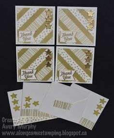 Along Came Stamping: FM144 Gold Thank You Set #StampinUp #HelloLovely