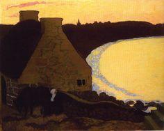 Paysage breton en jaune, Peinture de Maurice Denis