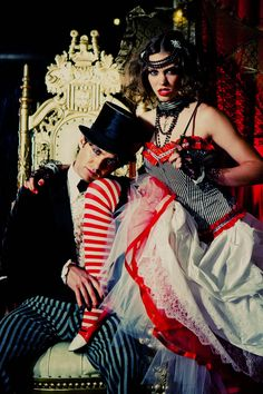 A Dark Circus Inspiration Shoot...Now, this IS a wedding...however, I couldn't pull it off if I tried. So, how about the engagement shoot? ;)