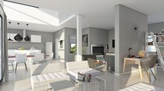 Modèle Et Plan De Maison Volume Etage Avec Ou Sans Garage Par Le - Idee deco maison neuve