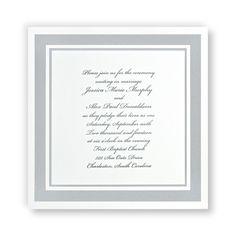 Silver Elegance Wedding Invitations by TheAmericanWedding.com