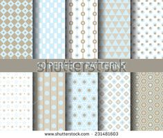 10 geometrical retro seamless patterns,  Endless texture can be used for wallpaper, pattern fills, web page background,surface textures.