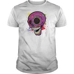 Purple Tattoo Sugar Skull Tshirt