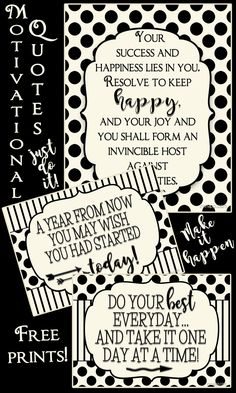 Get the year started off right with these free motivational prints from inkhappi!