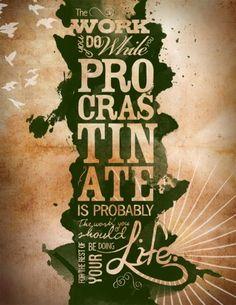 vintage style typography quote