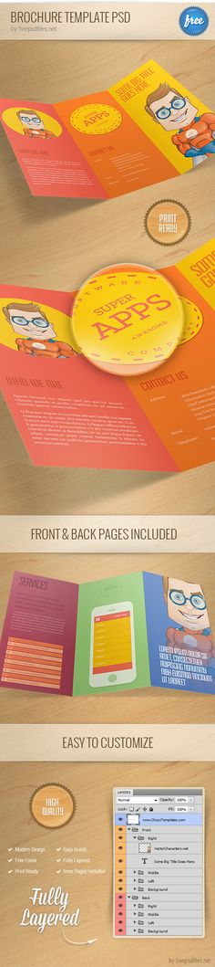 Perennial tri-fold brochure template Free Brochure Templates - new year brochure template