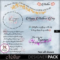 Pack made of 7 word arts, to tell your mother that you love her. The word arts are PNG files, 300 DPI, variable sizes.